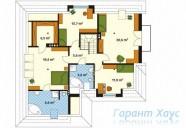 78-proekt.ru - Проект Одноквартирного Дома №246.  План Второго Этажа