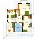 78-proekt.ru - Проект Одноквартирного Дома №138.  План Второго Этажа