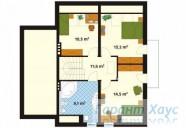 78-proekt.ru - Проект Одноквартирного Дома №57.  План Второго Этажа