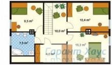 78-proekt.ru - Проект Одноквартирного Дома №278.  План Второго Этажа