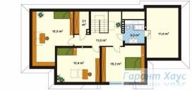 78-proekt.ru - Проект Одноквартирного Дома №244.  План Второго Этажа