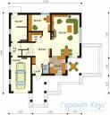 78-proekt.ru - Проект Одноквартирного Дома №10.  План Первого Этажа