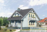 78-proekt.ru - Проект Одноквартирного Дома №308.  Вид №1