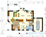 78-proekt.ru - Проект Одноквартирного Дома №190.  План Первого Этажа