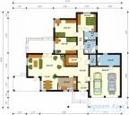 78-proekt.ru - Проект Одноквартирного Дома №102.  План Первого Этажа