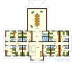 78-proekt.ru - Проект Гостиницы №2.  План Второго Этажа