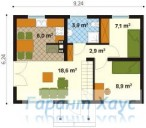 78-proekt.ru - Проект Дачного Дома №12.  План Первого Этажа