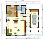 78-proekt.ru - Проект Одноквартирного Дома №296.  План Первого Этажа