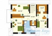 78-proekt.ru - Проект Одноквартирного Дома №211.  План Второго Этажа