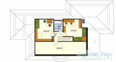 78-proekt.ru - Проект Одноквартирного Дома №181.  План Второго Этажа