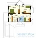 78-proekt.ru - Проект Одноквартирного Дома №170.  План Второго Этажа