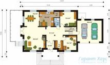 78-proekt.ru - Проект Одноквартирного Дома №323.  План Первого Этажа
