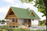 78-proekt.ru - Проект Одноквартирного Дома №291.  Вид №1