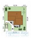 78-proekt.ru - Проект Одноквартирного Дома №287.  Планировка На Участке