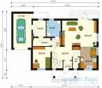 78-proekt.ru - Проект Одноквартирного Дома №50.  План Первого Этажа