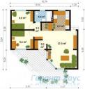 78-proekt.ru - Проект Одноквартирного Дома №287.  План Первого Этажа