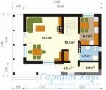 78-proekt.ru - Проект Одноквартирного Дома №291.  План Первого Этажа