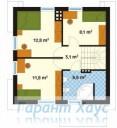78-proekt.ru - Проект Одноквартирного Дома №179.  План Второго Этажа