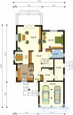 78-proekt.ru - Проект Одноквартирного Дома №61.  План Первого Этажа