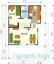 78-proekt.ru - Проект Дачного Дома №7.  План Первого Этажа