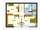 78-proekt.ru - Проект Одноквартирного Дома №109.  План Второго Этажа