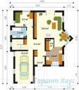 78-proekt.ru - Проект Одноквартирного Дома №191.  План Первого Этажа