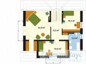 78-proekt.ru - Проект Одноквартирного Дома №185.  План Второго Этажа