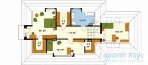 78-proekt.ru - Проект Одноквартирного Дома №320.  План Второго Этажа