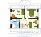 78-proekt.ru - Проект Одноквартирного Дома №90.  План Второго Этажа
