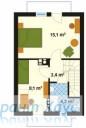 78-proekt.ru - Проект Одноквартирного Дома №198.  План Второго Этажа