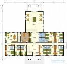 78-proekt.ru - Проект Гостиницы №2.  План Первого Этажа