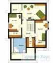 78-proekt.ru - Проект Одноквартирного Дома №316.  План Второго Этажа