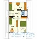 78-proekt.ru - Проект Одноквартирного Дома №290.  План Второго Этажа