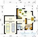 78-proekt.ru - Проект Одноквартирного Дома №309.  План Первого Этажа