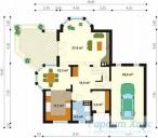 78-proekt.ru - Проект Одноквартирного Дома №151.  План Первого Этажа