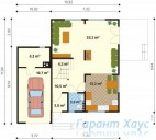 78-proekt.ru - Проект Одноквартирного Дома №64.  План Первого Этажа