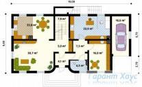 78-proekt.ru - Проект Одноквартирного Дома №157.  План Первого Этажа