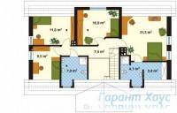 78-proekt.ru - Проект Одноквартирного Дома №342.  План Второго Этажа