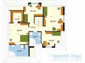 78-proekt.ru - Проект Двухквартирного Дома №22.  План Второго Этажа