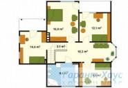78-proekt.ru - Проект Одноквартирного Дома №305.  План Второго Этажа