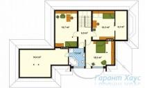 78-proekt.ru - Проект Одноквартирного Дома №16.  План Второго Этажа