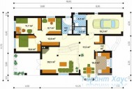 78-proekt.ru - Проект Одноквартирного Дома №333.  План Первого Этажа