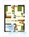 78-proekt.ru - Проект Одноквартирного Дома №308.  План Второго Этажа