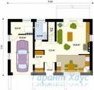 78-proekt.ru - Проект Одноквартирного Дома №313.  План Первого Этажа