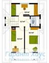 78-proekt.ru - Проект Одноквартирного Дома №293.  План Второго Этажа