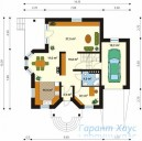 78-proekt.ru - Проект Одноквартирного Дома №58.  План Первого Этажа