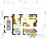 78-proekt.ru - Проект Одноквартирного Дома №167.  План Первого Этажа