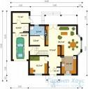 78-proekt.ru - Проект Одноквартирного Дома №200.  План Первого Этажа