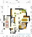 78-proekt.ru - Проект Одноквартирного Дома №164.  План Первого Этажа