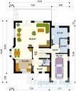 78-proekt.ru - Проект Одноквартирного Дома №341.  План Первого Этажа